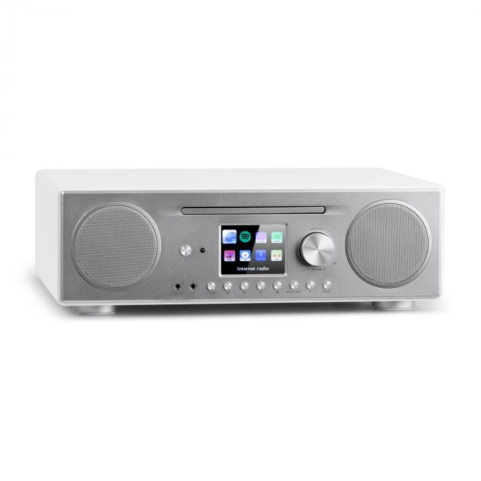 Connect CD Radio de internet Reproductor multimedia BT MP3 DAB+ Spotify Connect Radio blanco