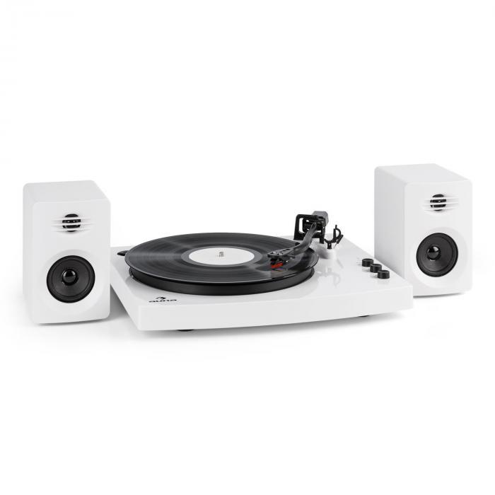 """TT-Play Plattenspieler 2 Stereoboxen (3""""/10W) Bluetooth Geschwindigkeiten: 33 1/3 & 45 U/min"""
