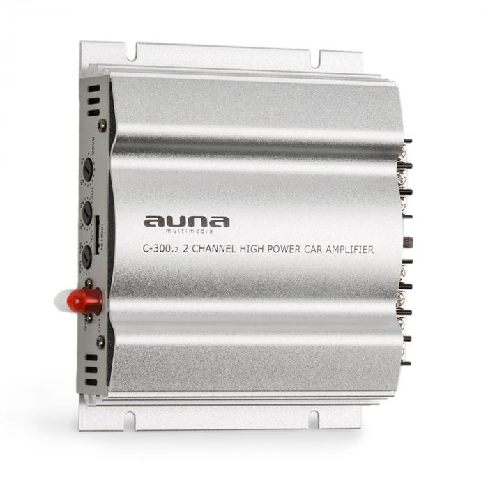 auna C300.2 2-Kanal-Verstärker Auto-Endstufe 2x200 W Musik / 2 x 100W RMS