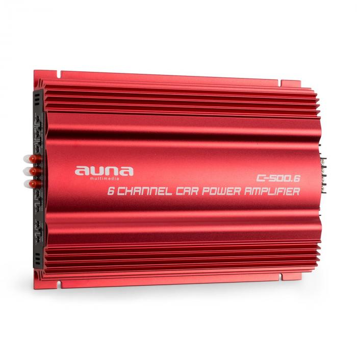 C500.6 6-Kanal-Verstärker Auto-Endstufe 6x 65W RMS