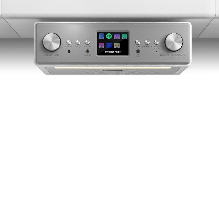 "Connect Soundchef radio de cocina empotrable con Internet DAB+ FM bafles de 2 x 3"" blanco"