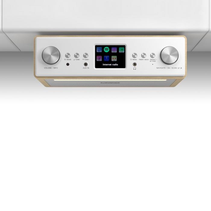 """Connect Soundchef Küchenunterbauradio Internet DAB+ UKW 2x3""""-Boxen"""