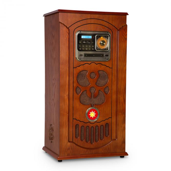 auna musicbox jukebox record player cd player bt usb sd fm tuner wood purchase online. Black Bedroom Furniture Sets. Home Design Ideas