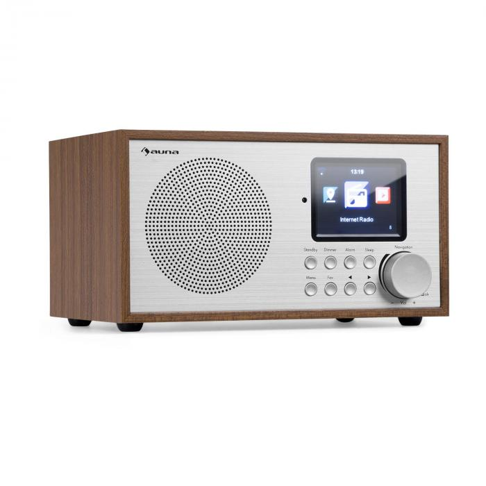 Silver Star Mini radio Internet DAB+/FM WiFi Bluetooth  - bois marron
