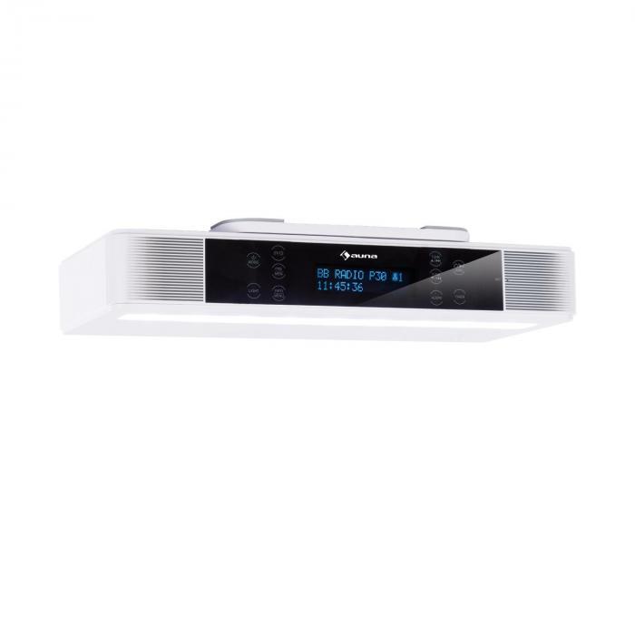 KR-140 Bluetooth Kitchen Radio Hands-Free LED Lighting White