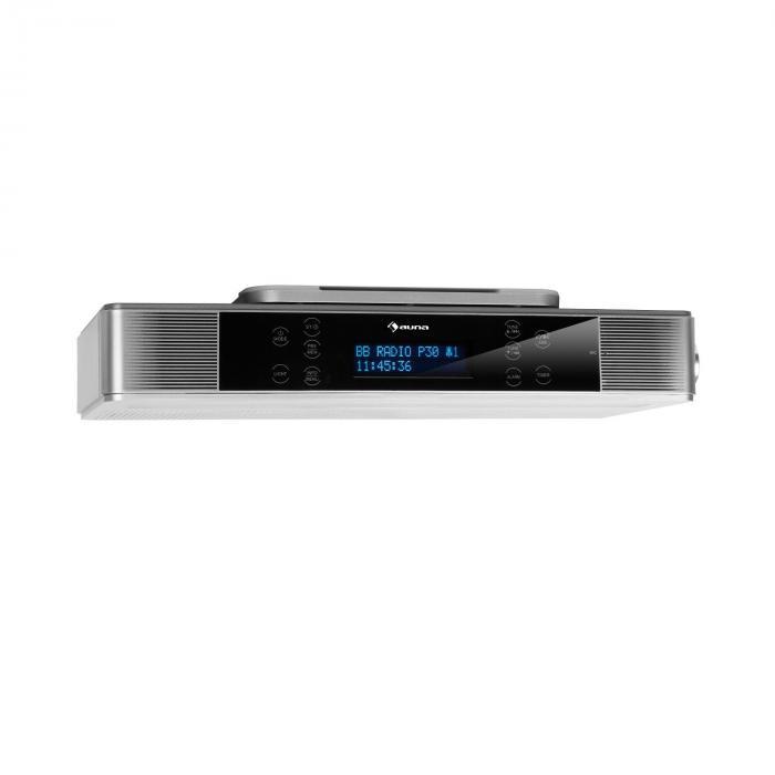 KR-140 Bluetooth Küchenradio Freisprechfunktion LED-Beleuchtung silber