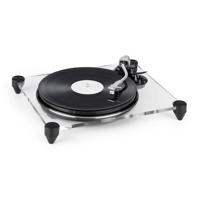 auna tt pure turntable record player acrylic glass 33 1 3. Black Bedroom Furniture Sets. Home Design Ideas