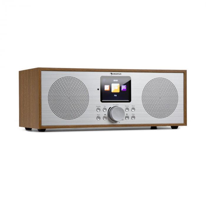 Silver Star Stereo Internet DAB+/UKW Radio, WiFi, BT, DAB+/UKW, Eiche