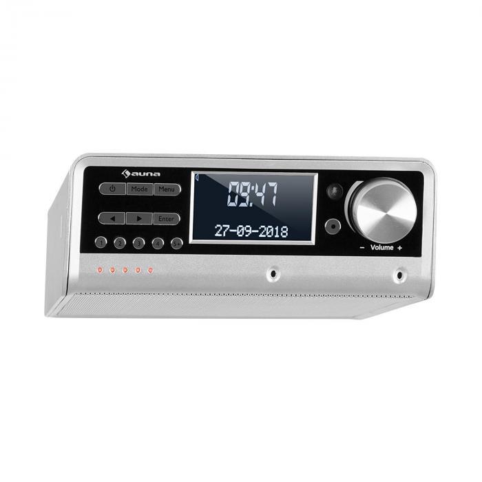 Intelligence DAB+ Küchenradio, Alexa-VoiceControl, Spotify, BT, silber
