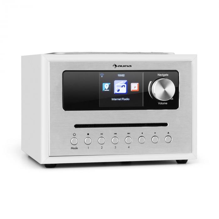 Silver Star CD Cube Radio Bluetooth HCC Display weiß