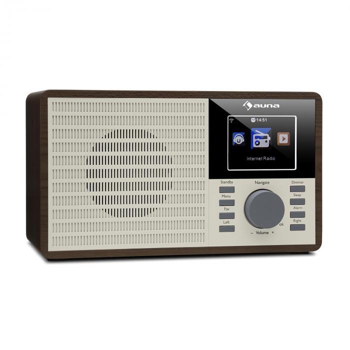 """DR-160 BT DAB + / FM Radio USB AUX 2.4"""" TFT Display Remote Control Wood"""