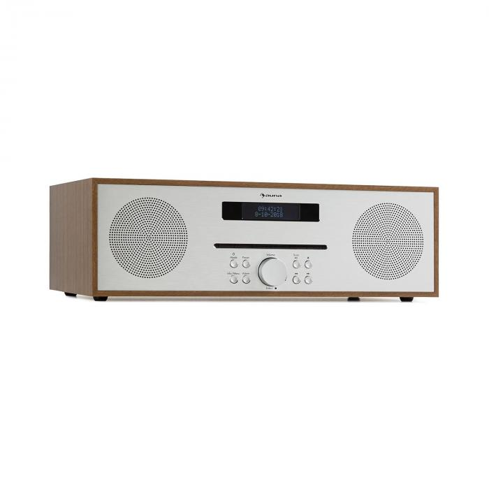 Silver Star CD-FM 2x20W Max. Slot-In CD Player FM BT Aluminium Brown