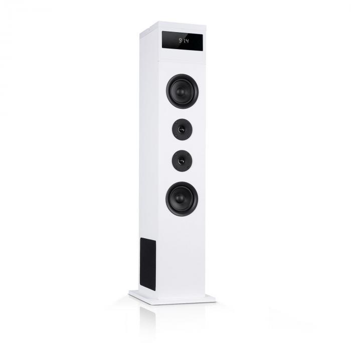 Karaboom 100 Lautsprecher 120Wmax. BT/USB/MP3/UKW/AUX-In Tablethalter weiß
