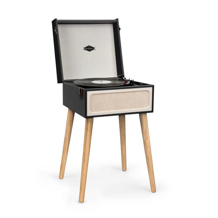 Sarah Ann Platine disque vinyle rétro Bluetooth USB SD 3 vitesses - noir &