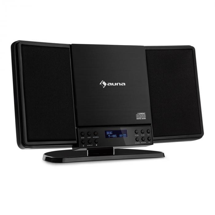 V14-DAB Vertical-Stereoanlage CD FM und DAB+ Tuner BT schwarz