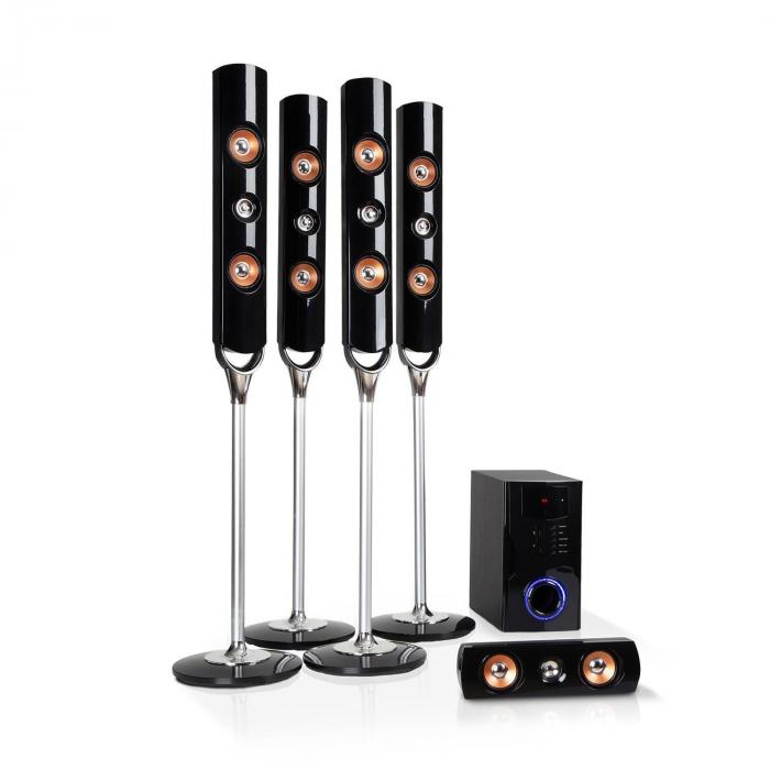 Areal Nobility Surround-System a 5.1 canali 120 W RMS BT 3.0 USB SD AUX