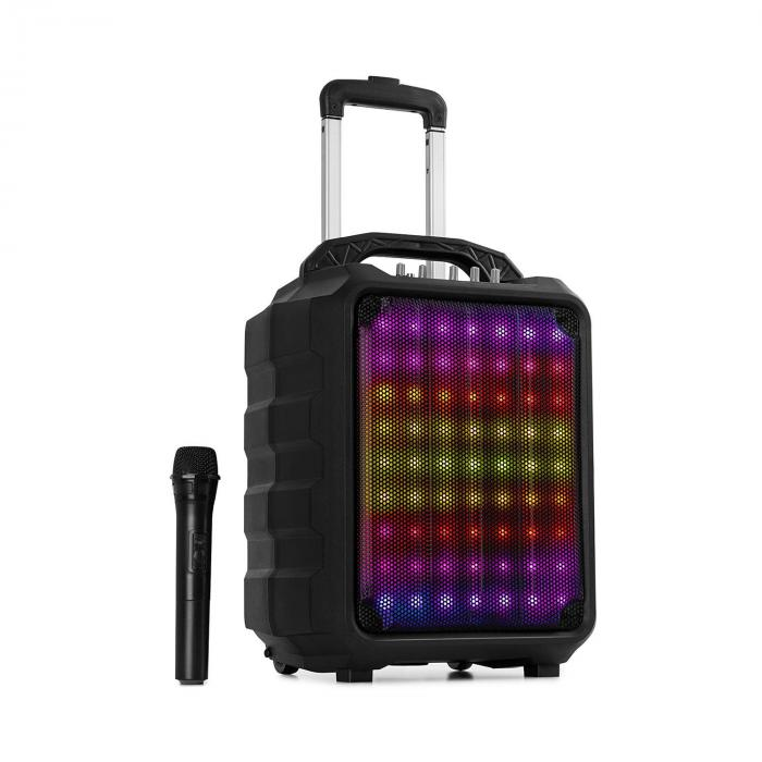 "Moving 80.1 LED PA System 8"" Woofer 100 W Max. UHF Mic USB SD BT AUX Mobile"