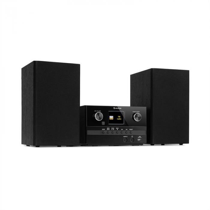 Connect System S Stereoanlage + Lautsprecher 20Wmax Internet/DAB+/UKW CD-Player schwarz