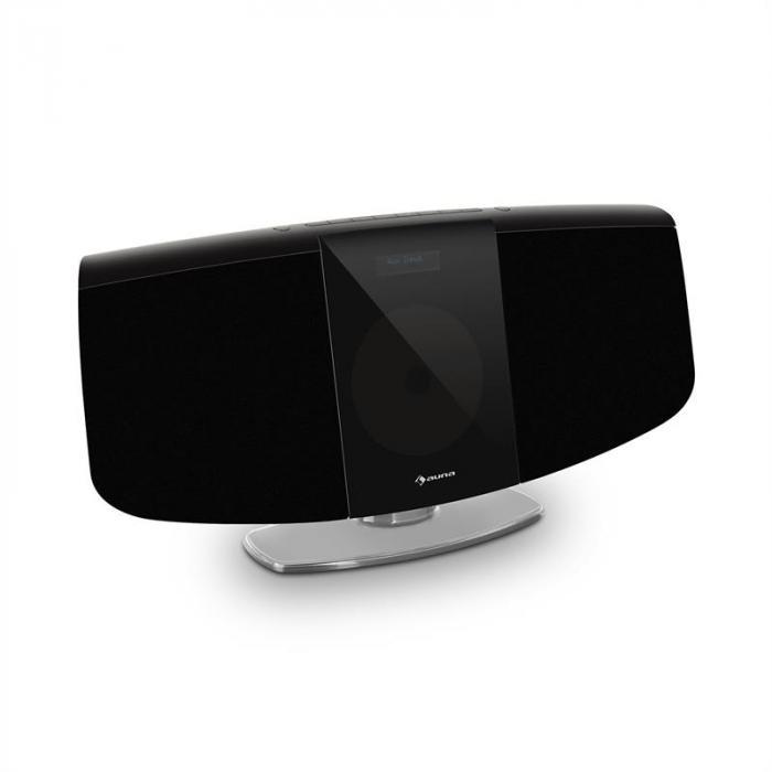 BlackMask Vertikal-Stereoanlage CD FM und DAB+ Tuner BT schwarz