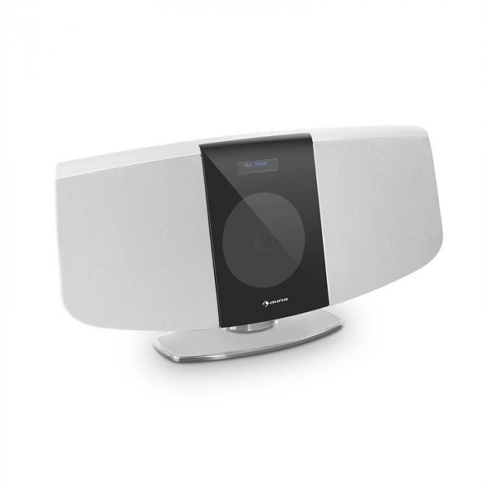 BlackMask Impianto Stereo Verticale CD Tuner FM e DAB+ BT bianco