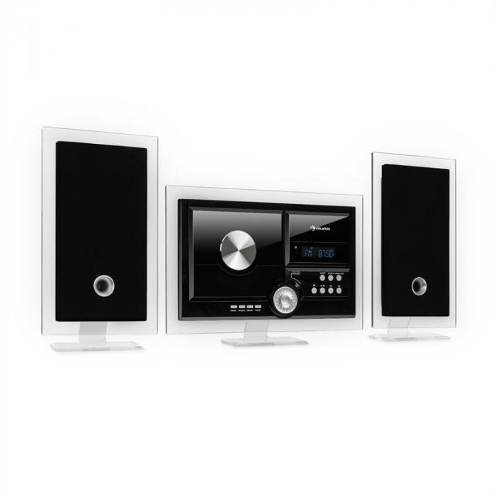 Stereo Sonic impianto stereo DAB+, DAB+, lettore CD, USB, BT, nero