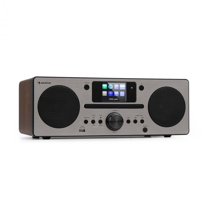 Harvard Kompaktanlage Internet-/DAB+/UKW-Radio CD-Player Bluetooth walnuss