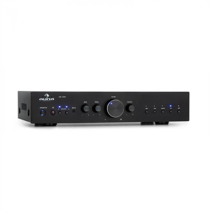 AV2-CD608BT HiFi Stereo Amplifier 4x100W RMS BT Dig-Opt-In Black