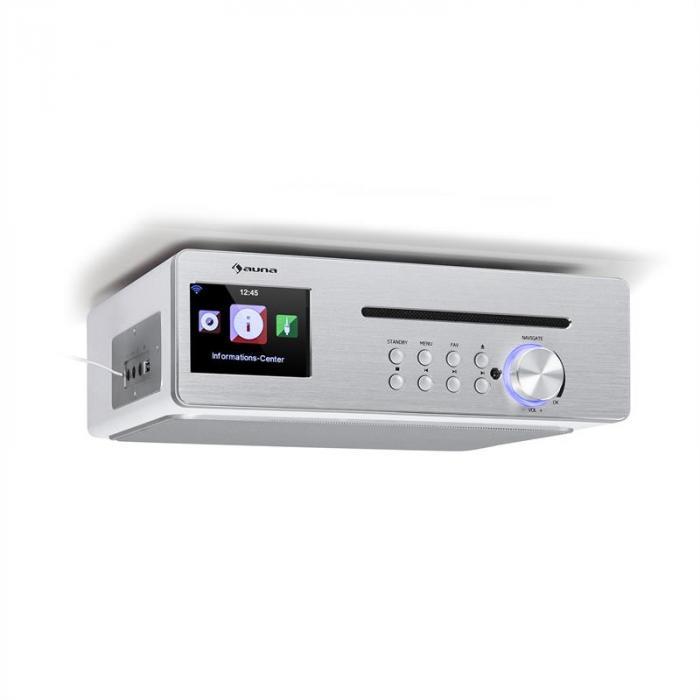 Silverstar Chef Küchenradio 20W max. CD BT USB Internet/DAB+/UKW weiß