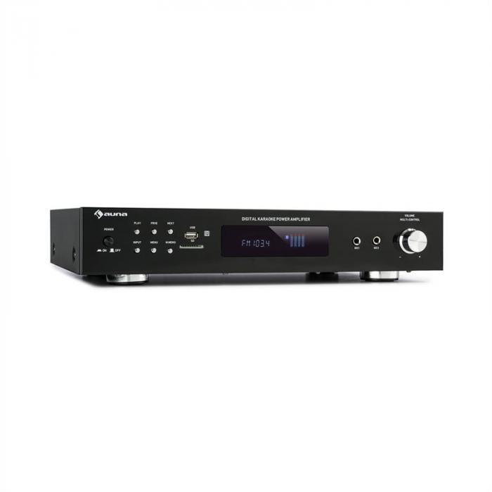 AMP-9200 BT Digital-Stereo-Verstärker 2x60W RMS BT 2xMikro schwarz