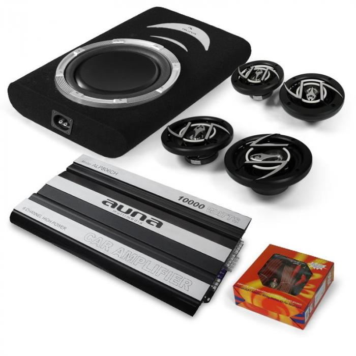 4 1 car hifi set suzuka 6 kanal mosfet car hifi endstufe. Black Bedroom Furniture Sets. Home Design Ideas