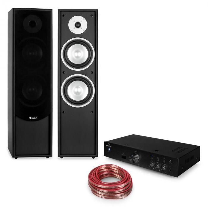 Line-300 Bluetooth HiFi-Set Amplifier Standing Speaker Passive black