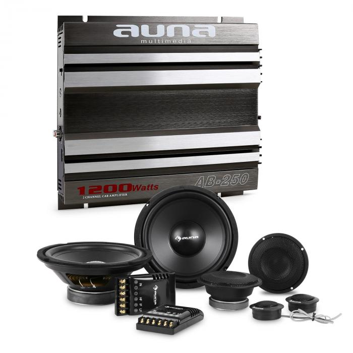 CS-Comp-8 Set HiFi tuning voiture kitenceintes & amplificateur 2 canaux