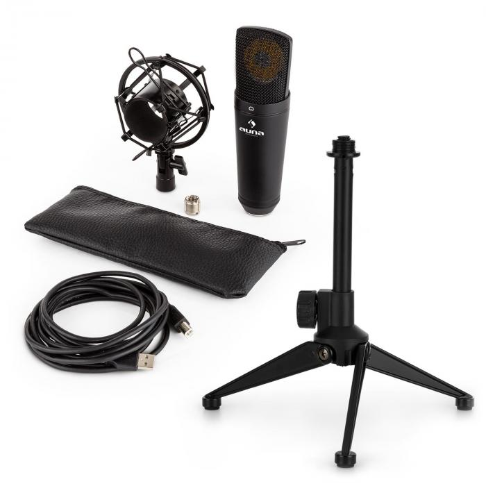 MIC-920B USB Microphone Set V1 Black Large Diaphragm Microphone & Tabletop Stand
