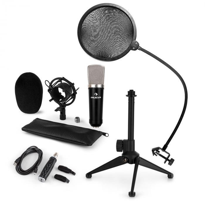 CM003 Set Microfono USB V1 Microfono A Condensatore USB Convertitore  Stativo Filtro Antipop 12d6d47cef92