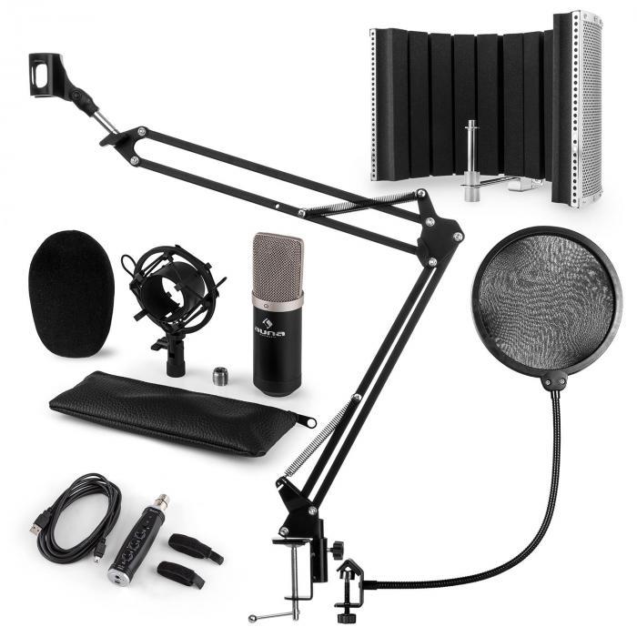 CM003 microphone-kit V5 microphone à condensateur convertisseur USB noir