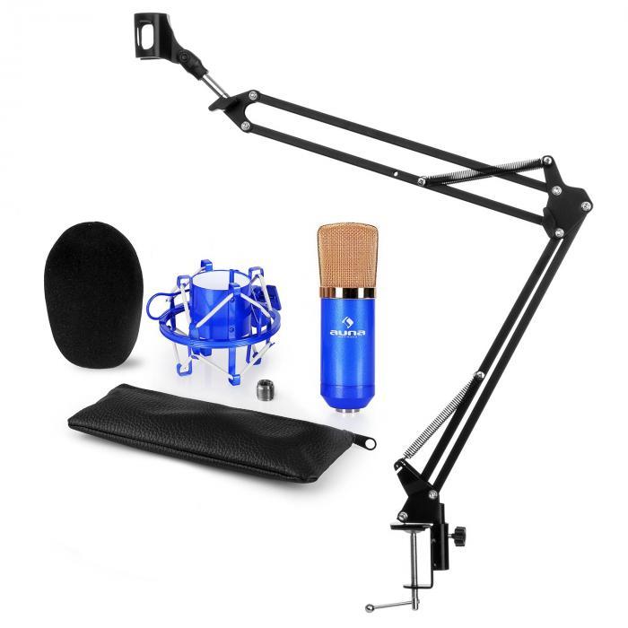CM001BG Microphone Set V3 Condenser Microphone Microphone Arm Blue