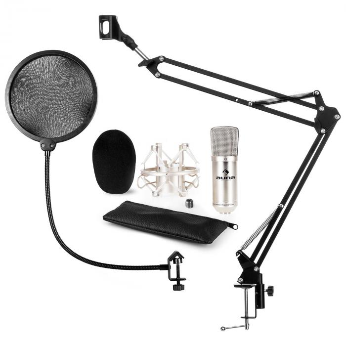 CM001S microphone-kit V4 micro à condensateur XLR perchette filtre anti pop