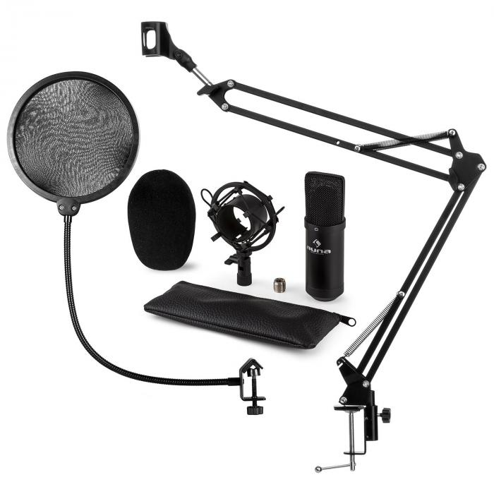 CM001B Microphone Set V4 Condenser Microphone Microphone arm POP protection black