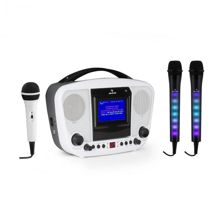 Audio & Hi Fi|Karaoke KaraBanga + Dazzl Mic Set Karaoke System Microphone Bluetooth TFT screen