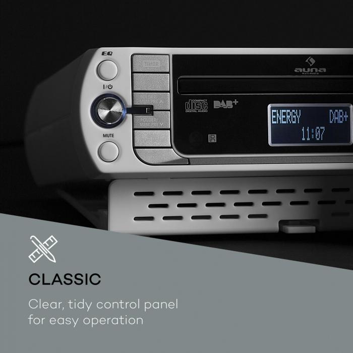 Kr 400 cd radio de cuisine tuner dab pll fm lecteur cd for Radio cd cuisine