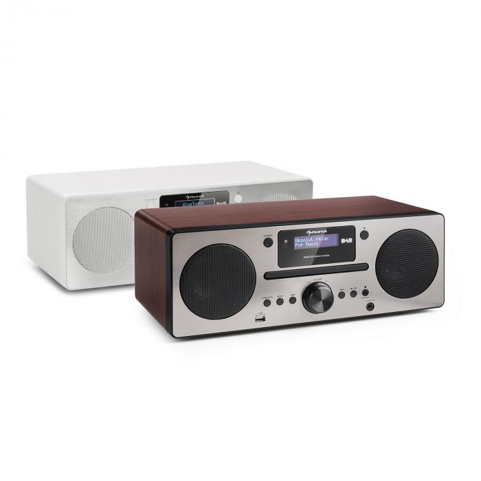 harvard micro cha ne dab tuner radio fm lecteur cd bluetooth usb marron noyer. Black Bedroom Furniture Sets. Home Design Ideas