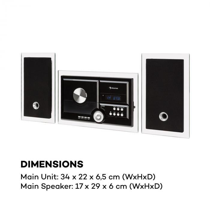 stereosonic syst me st r o lecteur cd usb mp3 aux bluetooth noir noir. Black Bedroom Furniture Sets. Home Design Ideas