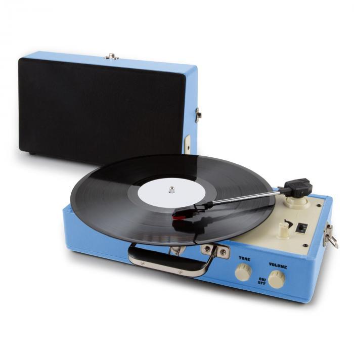 buckingham retro koffer plattenspieler lautsprecher aux blau online kaufen. Black Bedroom Furniture Sets. Home Design Ideas
