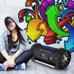 Soundstorm Enceinte Bluetooth NFC USB AUX batterie karaoke LED
