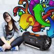 Soundstorm Ghettoblaster Bluetooth NFC USB Akku schwarz/orange
