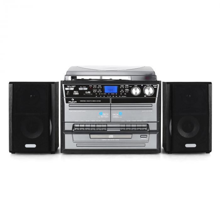 tc 386 stereoanlage usb mp3 kassette cd plattenspieler. Black Bedroom Furniture Sets. Home Design Ideas