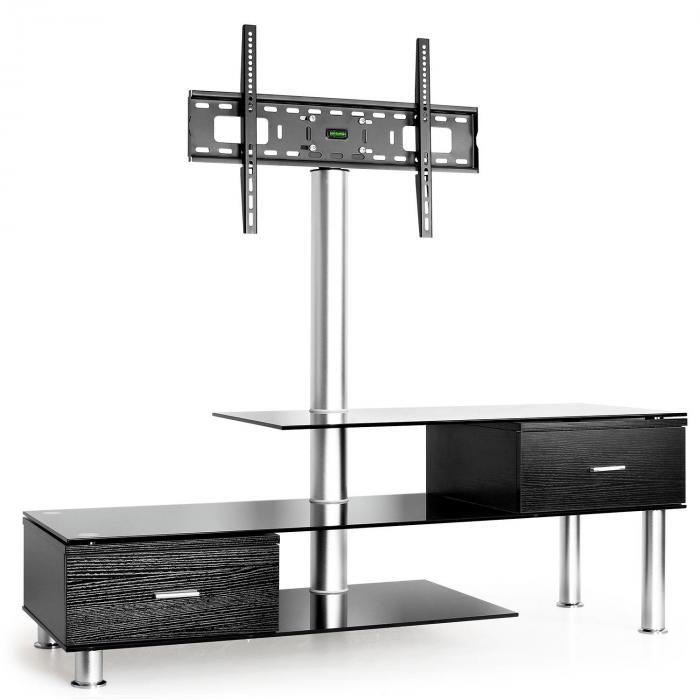 lk 1 tv tisch mit lcd tv halterung schwarz glas m bel online kaufen. Black Bedroom Furniture Sets. Home Design Ideas