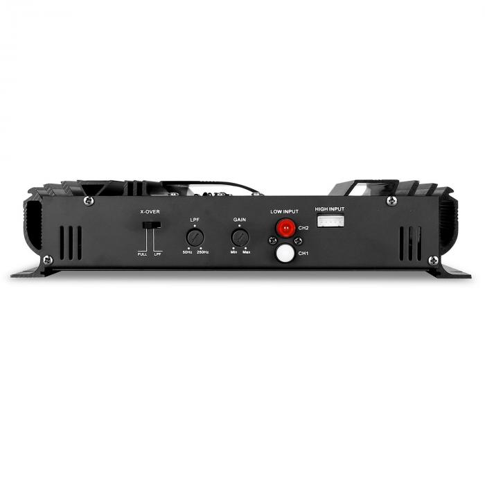 ampli pour voiture 1 2 canaux bridgeable 1400w max 190w rms 2 0. Black Bedroom Furniture Sets. Home Design Ideas