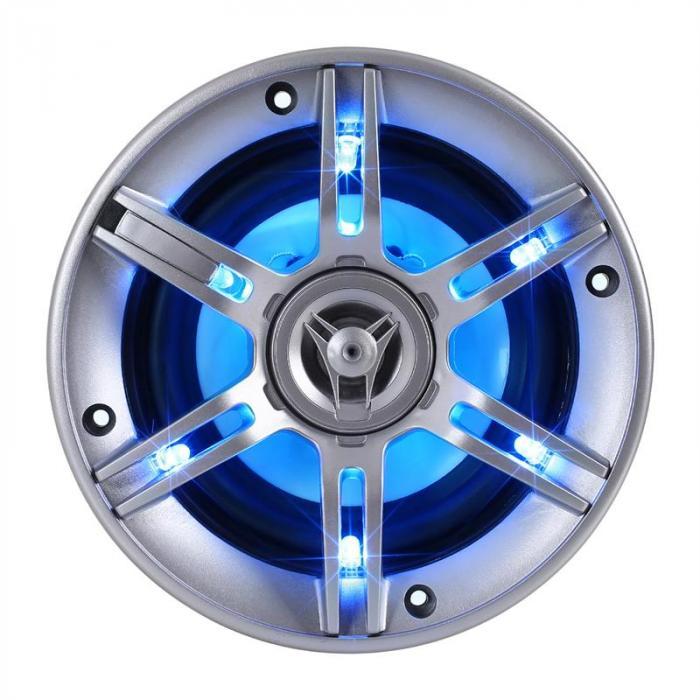 cs led5 13cm auto lautsprecher 2x300w max led lichteffekt. Black Bedroom Furniture Sets. Home Design Ideas