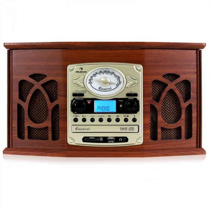 nr 620 retro record player turntable cd mp3 player wood mahogany purchase online. Black Bedroom Furniture Sets. Home Design Ideas